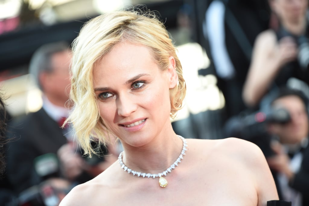 Diane Kruger Wore a Diamond Chopard Necklace That Featured a Yellow Diamond