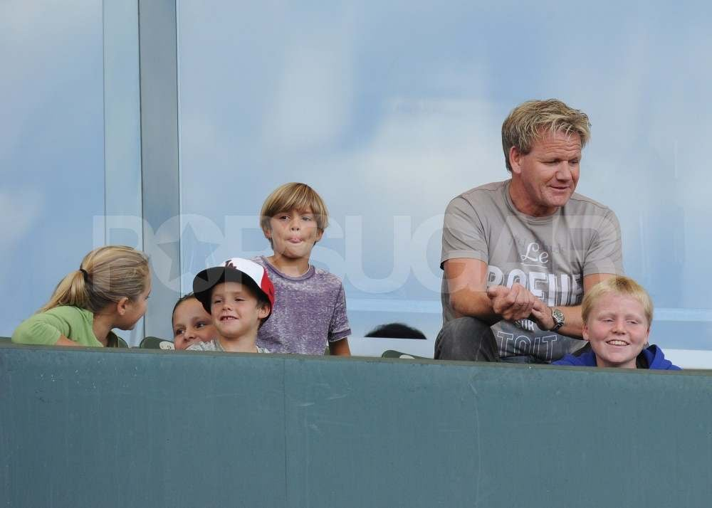 Gordon Ramsay at David Beckham's Galaxy game.