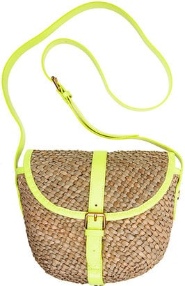 Neon yellow trim ups the ante on this lightweight Marc by Marc Jacobs Preppy Straw Canteen ($148).