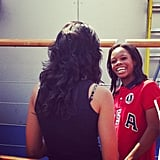 Gabby Douglas was all smiles around London. Source: Instagram user