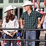Kate Middleton and Prince William were too cute in their matching cowboy hats when they attended a rodeo in Calgary in July 2011.