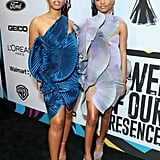 Chloe x Halle Wearing Armine Ohanyan at the Essence Black Women in Hollywood Awards Luncheon