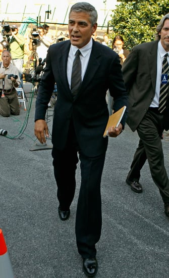 Pictures of George Clooney in Washington DC