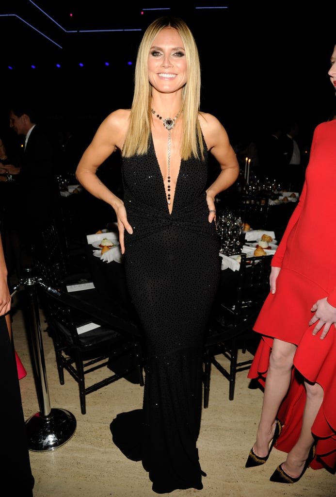 Heidi Klum in a Plunging Michael Kors at the 2013 amfAR Gala