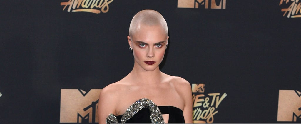 Cara Delevingne Is Rocking a New Tattoo on the Back of Her Shaved Head