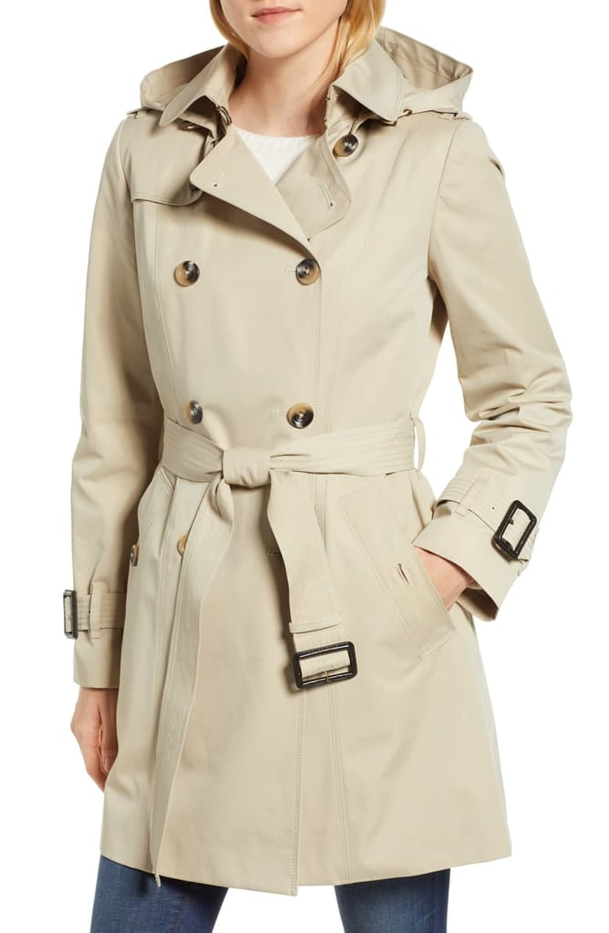London Fog Trench Coat With Detachable Liner & Hood