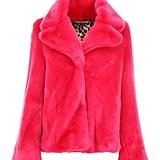 Shop Taylor's Exact Pink Fur Jacket