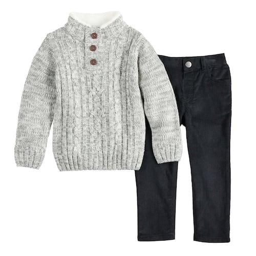 1c8de3c41 Little Lad Cable Knit Sweater & Corduroy Pants Set | Best Clothes ...