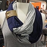 Itzy Ritzy Nursing Scarf With Leather Cuff