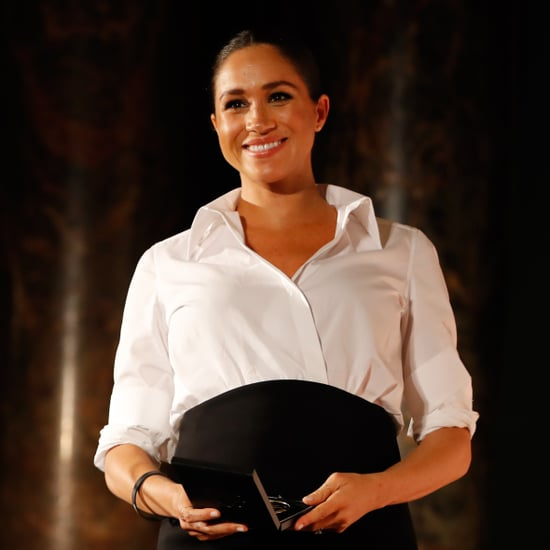 Meghan Markle in a White Button-Down Shirt