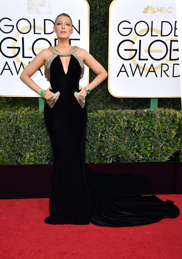 Blake Lively's Golden Globes Dress Had Us Asking 1 Question: Are Those Actually Pockets?