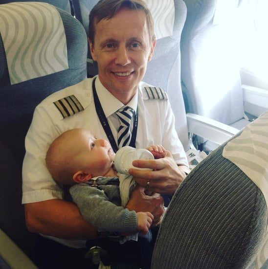 Baby Sits in Pilot's Lap During Flight
