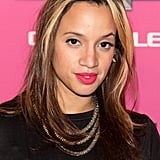 Orange Is the New Black star Dascha Polanco showed off a pop of magenta across her lips.
