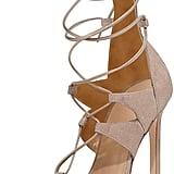 Stuart Weitzman Leg-Wrap Lace-Up Sandals ($498)