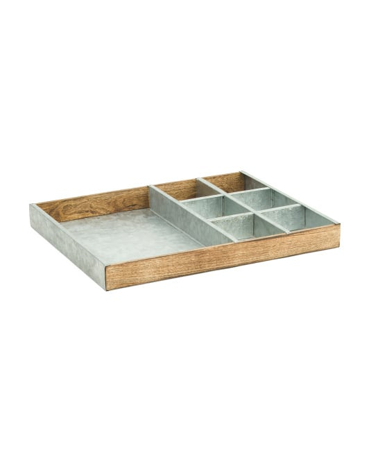 Galvanized Metal Sectioned Tray