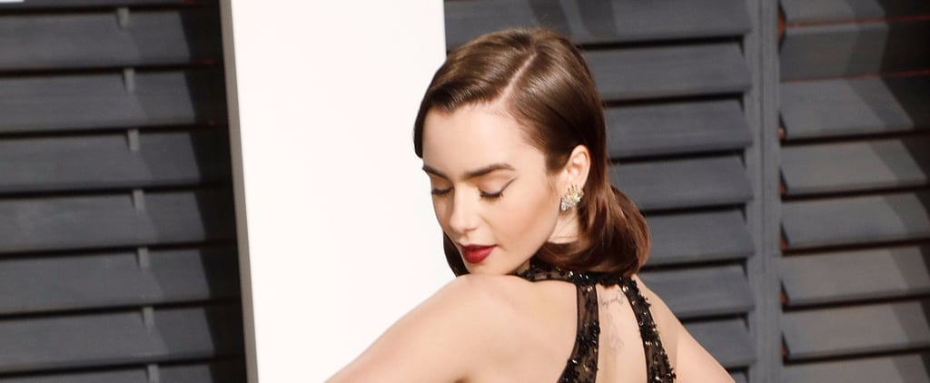 Lily Collins's Negative-Space Cat Eye Is the Perfect Blend of Edgy and Elegant