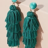 Anthropologie Malika Tiered Tassel Earrings