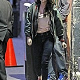 Kristen stepped out after her interview.