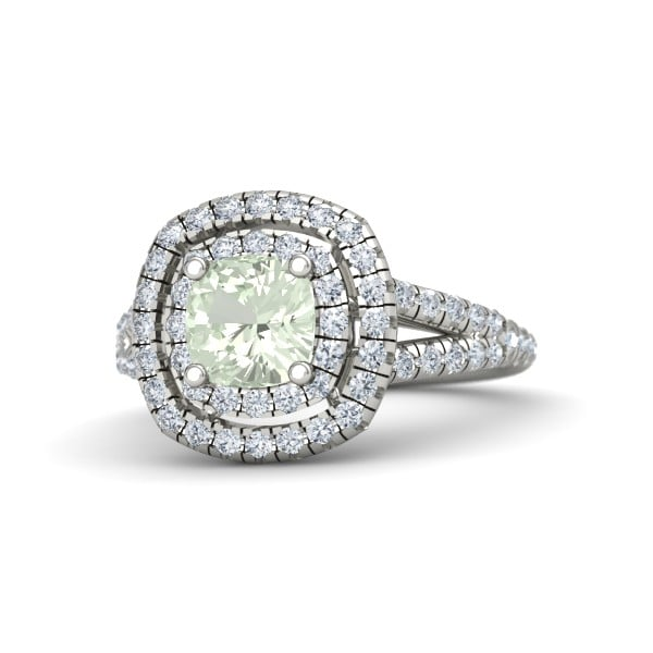 Gemvara Lillian Ring With Green Amethyst ($2,160)