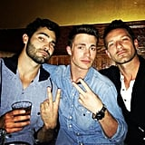 "Tyler Hoechlin: ""Could be trouble lurking.. @ianbohen @coltonlhaynes"""