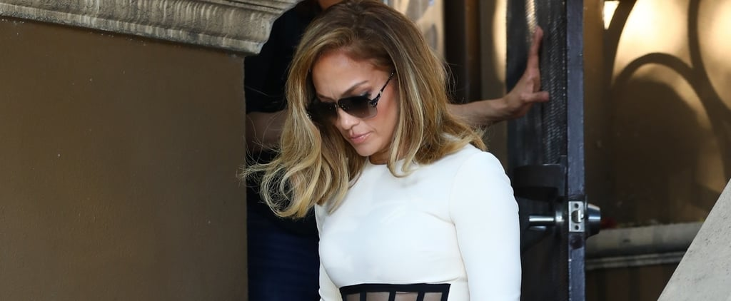Jennifer Lopez's David Koma Dress and Mesh Heels