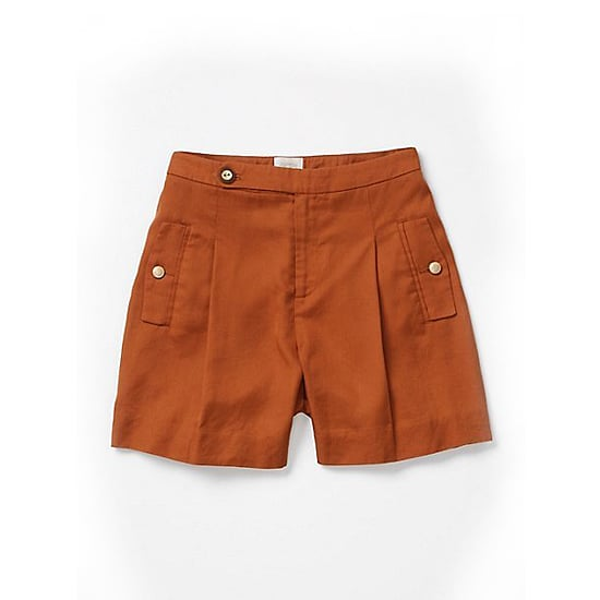 "Coquille Brushed Trouser Shorts, $78    Pair with:    <iframe src=""http://widget.shopstyle.com/widget?pid=uid5121-1693761-41&look=3445389&width=3&height=3&layouttype=0&border=0&footer=0"" frameborder=""0"" height=""244"" scrolling=""no"" width=""286""></iframe>"