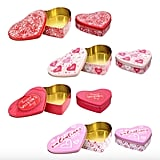 Valentine Heart-Shaped Printed Tins