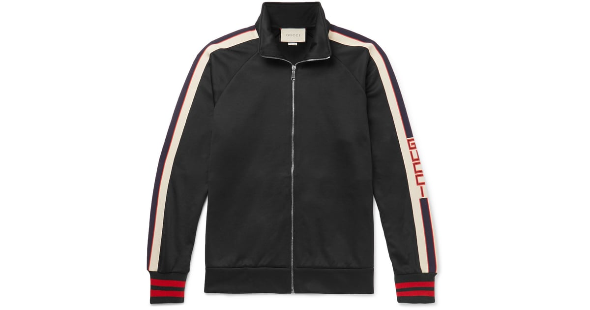 a9c8b73f9 Gucci Webbing-Trimmed Tech-Jersey Jacket