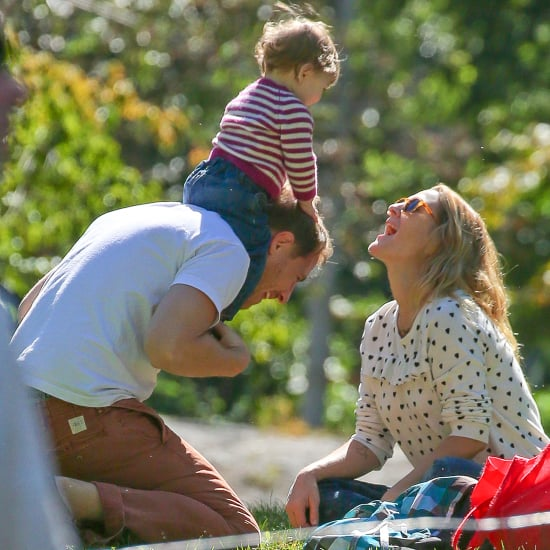 Drew Barrymore at the Park With Her Family in NYC