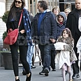 Katie Holmes and Suri Cruise walked together in NYC.