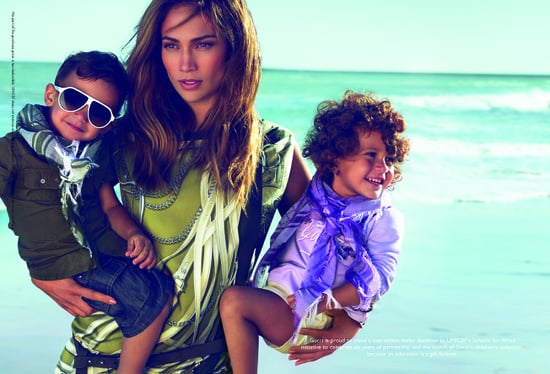 Jennifer Lopez stars in Gucci's childrens collection for UNICEF's Schools for Africa,