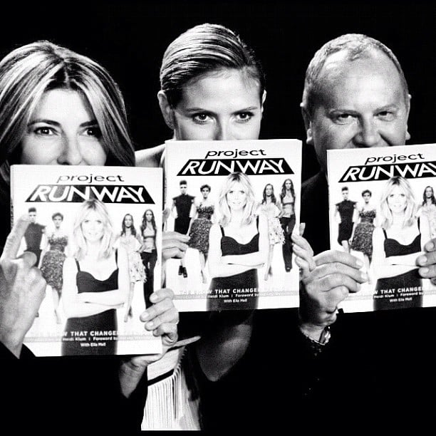 Nina Garcia, Heidi Klum and Michael Kors posed with copies of the Project Runway book. Source: Instagram user michaelkors