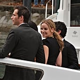 Abbie Cornish smiles in Venice.