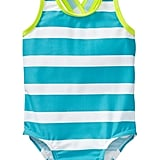 Old Navy Striped Cross-Back One-Piece