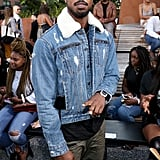 Michael B. Jordan at the Coach 1941 New York Fashion Week Show