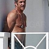 Mel Gibson Shirtless Pictures in Cannes
