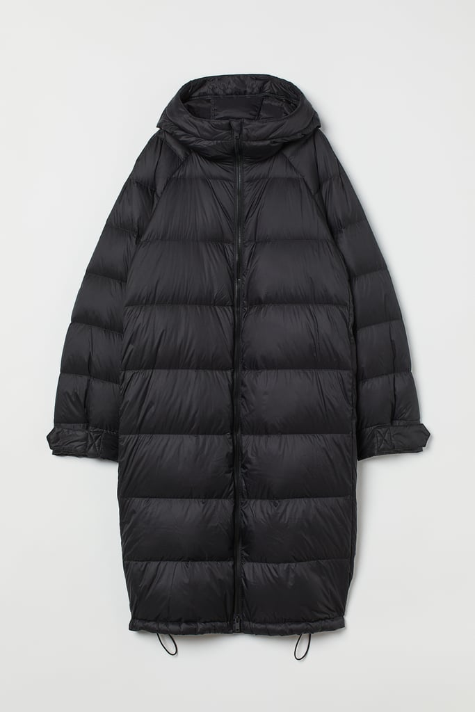 Knee-Length Down Jacket