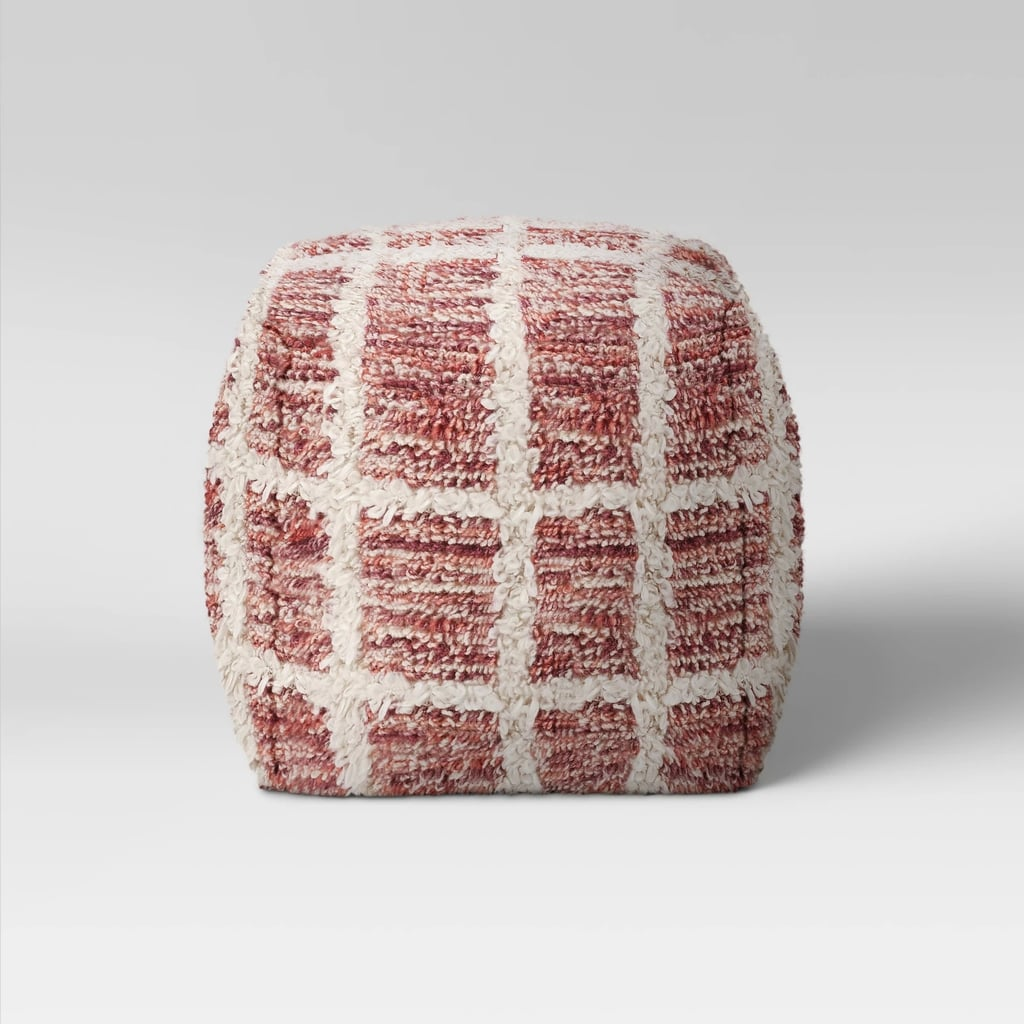 Burbank Windowpane Pouf