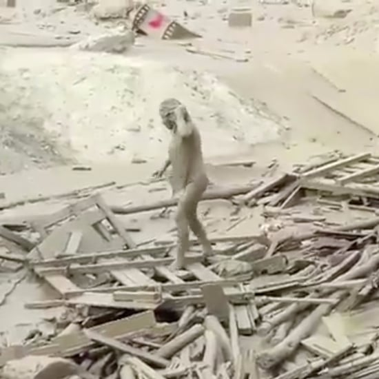 Video of Woman Escaping Mudslide in Peru