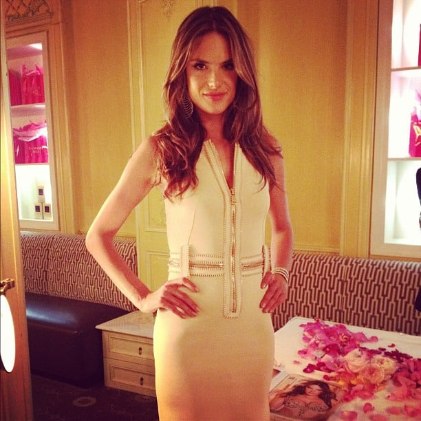 We had tea with Alessandra Ambrosio as we perused the Victoria's Secret holiday collection.