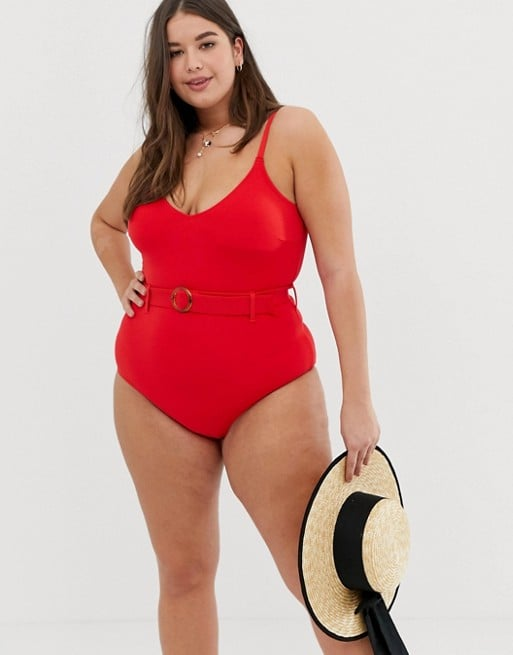 New Look Curve Belted Swimsuit