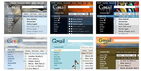 Gmail Gets Trendy New Themes!