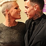 Pink and Carey Hart gave each other a glance on the red carpet.