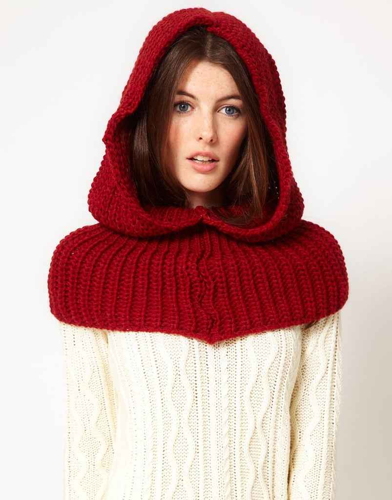 Sure, you may look a little Red Riding Hood-esque, but this French Connection snood ($56, originally $87) protects your head and shoulders from blustery conditions.