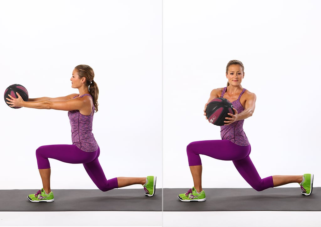 Reverse Lunge With Twist | Best Ab Exercises Using Weights ...