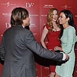 Nicole Kidman and Keith Urban say hi to Wendi Murdoch.