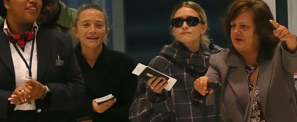 Mary-Kate and Ashley Olsen Wear Cool Flats to the Airport