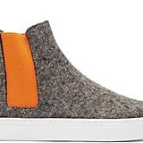 MSGM Grey & Orange Wool High-Top Sneakers ($450)