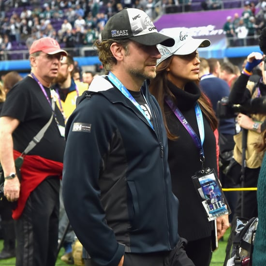 Bradley Cooper Cheering GIFs at 2018 Super Bowl