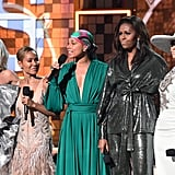 Michelle Obama Sequin Outfit at the 2019 Grammys